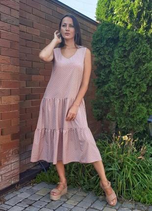 Летнее платье сарафан.