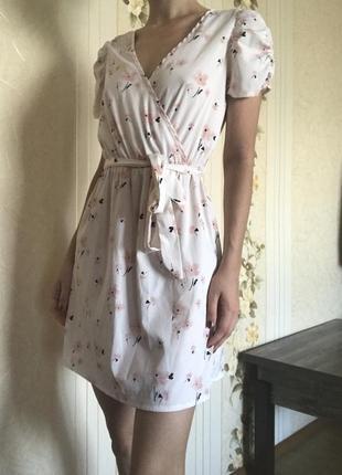 Нежное платье в цветок. милое платье. воздушное платье