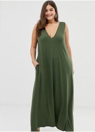Платье сарафан в пол на пог 80 см,  uk28/eur56