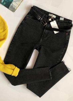 Новые обалденные джинсы мом с высокой посадкой house (слим)