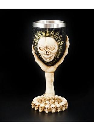 Бокал магический череп-солнце в руке+подарок