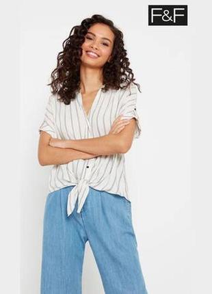 Натуральная блузка в полоску новая