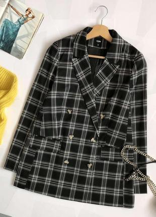 Обалденный пиджак oversize в клетку sinsay (блейзер, жакет)