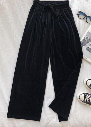 Велюрові штани клеш/ велюрові штани кльош / тренд цього року