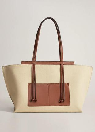 Новая сумка шоппер mango шопер