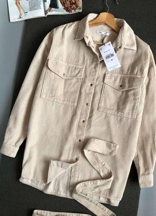 Новая обалденная вельветовая рубашка oversize sinsay (+ пояс)
