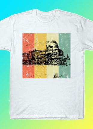 """Мужская футболка с принтом """"железнодорожнику"""" push it"""