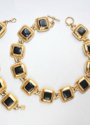 Винтажный набор от anne klein в матовом золоте