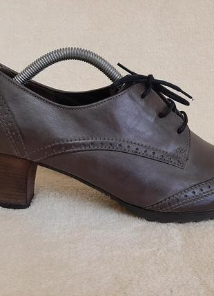 Кожаные туфли фирмы gabor comfort ( германия) р.40 стелька 26 см