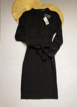 Тёплое платье миди m&s с поясом