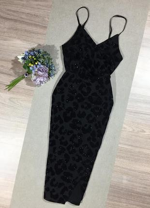 Трендовое платье по фигуре с имитацией запаха,в красивый принт.