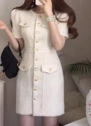 Платье-блейзер твидовое
