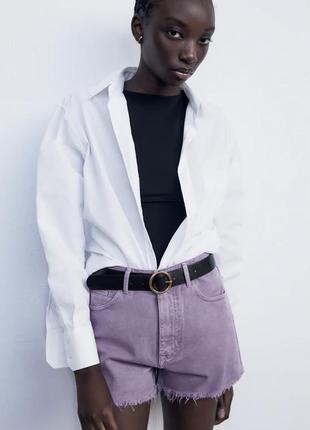 Zara лиловые шорты 32 размер джинсовые xxs xs