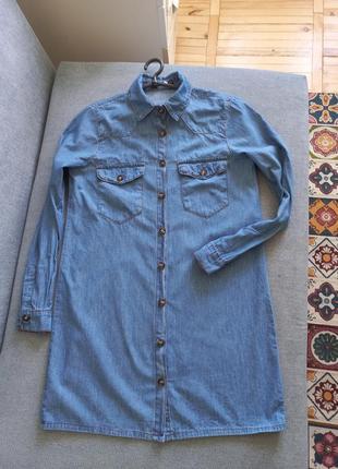 Легкое джинсовое платье рубашка
