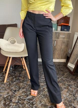 Черные прямые брюки классические, штани чорні hugo boss