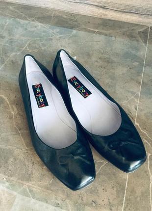 Чудесные кожаные итальянские туфли балетки everybody 38,5
