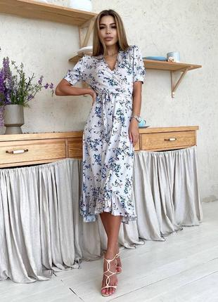 Платье со штапеля на запах