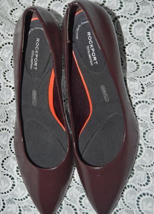Туфлі лодочки шкіра rockport by adidas розмір 40 7 41, туфли