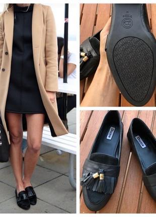 Лоферы  из натуральной кожи туфли на низком ходу