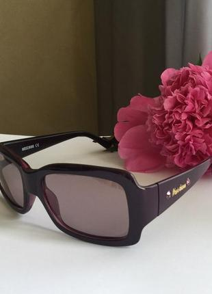 Фирменные фиолетовые солнцезащитные очки  оригинал новые