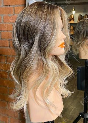 3️⃣0️⃣см натуральный оттенок пепельный парик наращивание волос перука
