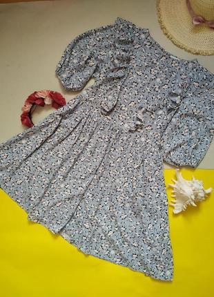 Невероятное платье в цветочек с рюшами