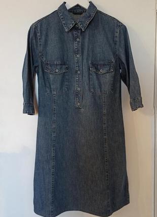 Джинсовое платье 3/4 рукав sisley
