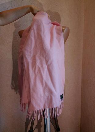 Розовый шарф 60%кашемир =40%шерсть германия