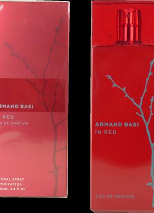 Женская парфюмерная вода armand basi in red eau de parfum (обьем 100 мл)