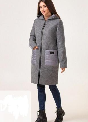Комбинированное деми пальто