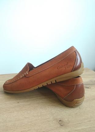 Gabor шкіряні макасіни кеди туфлі лофери топсайдери сліпони на низькому ходу коричневого кольору  38.5 39 39.5