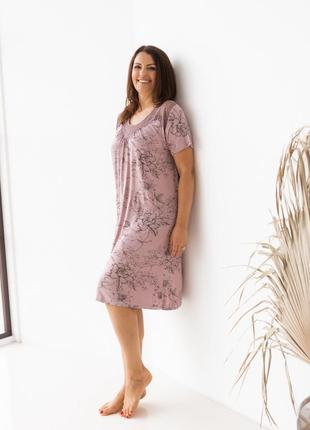 Женская ночная сорочка из вискозы4 фото