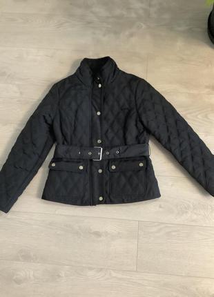 Женская демисезонная стёганная куртка с поясом размер м2 фото