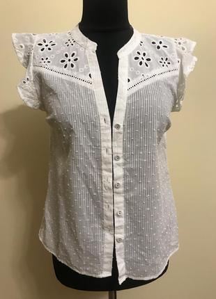 Блуза рубашка  хлопковая oasis