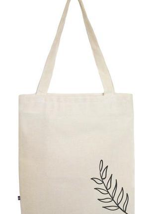 Бежева еко-торба/eco-bag/ черная эко-сумка / шоппер / шопер / 100% бавона