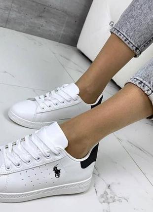 Белые кроссовки кеды 38 41 размер, светоотражающий задник