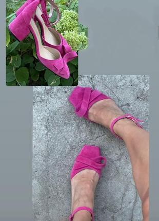 Роскошные туфли с квадратным носом на каблучке ручная работа