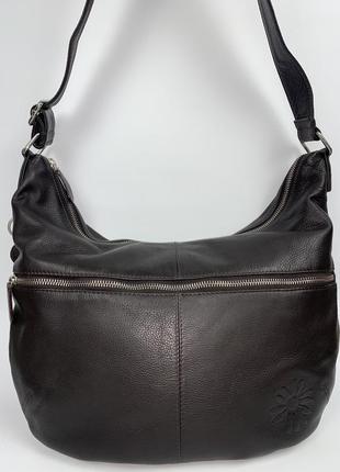 Англия! кожаная фирменная практичная сумочка на/ через плечо luccio.