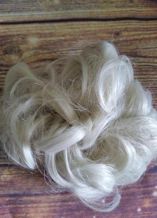 Новый накладной пучок, резинка с кудряшками, шиньон, блонд