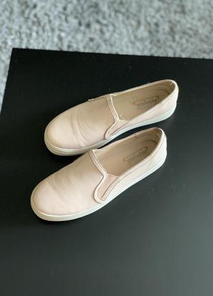 Тотальная ликвидация! цена только до 6.08!  кожаные слипоны кеды туфли