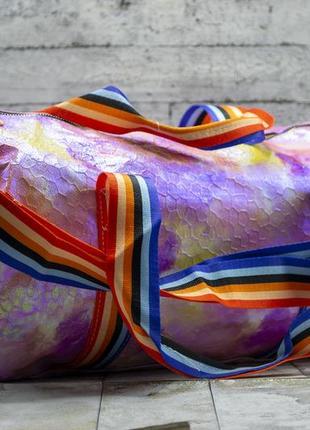 Спортивная дорожная сумка, радужная, разноцветная, спортивна валазі