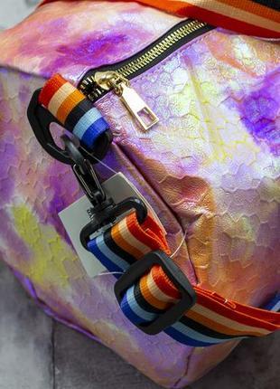 Спортивная дорожная сумка, радужная, разноцветная, спортивна валазі2 фото