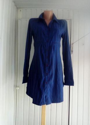Вискозное платье рубашка туника стрейч
