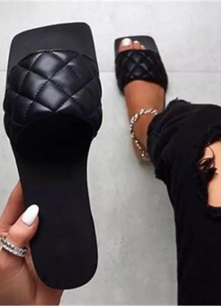 Женские кожаные босоножки косичка шлёпанцы с квадратным носком босоножки zara