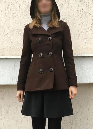 Шерстяное пальто miss sixty