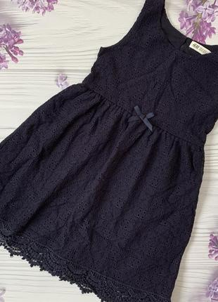 Гипюровое платье h&m сарафан в школу