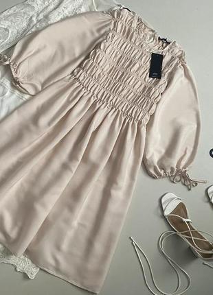 Новое невесомое платье с актуальным объемным рукавом house
