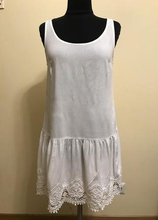 Платье белое летнее из тонкой вискозы