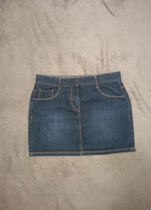 Юбка джинсовая на девочку 10-12 лет