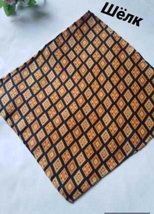Натуральный шелк, платочек паше, карманный,